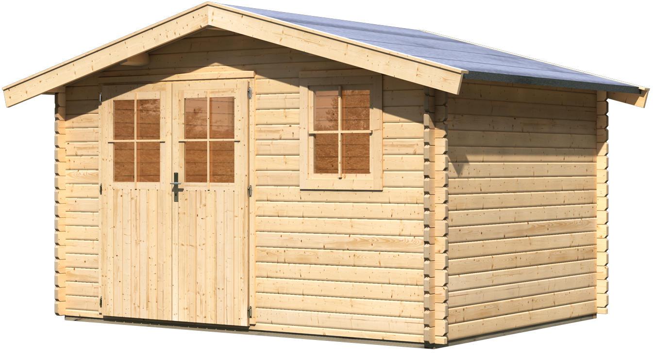 karibu woodfeeling blockbohlenhaus felsenau 4 gartenhaus. Black Bedroom Furniture Sets. Home Design Ideas