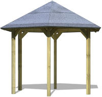 Karibu Pavillon Madrid 243x276x291cm kesseldruckimprägniert inkl. Dachpappe