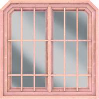 Fenster Roma naturbelassen