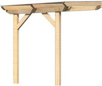 Karibu Terrassenüberdachung 1A Douglasien Leimholz mit 10mm Doppelstegplatten 2,00x2,50x2,57m