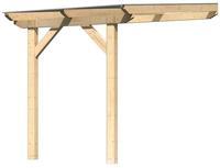 Karibu Terrassenüberdachung 3A Leimholz mit 10mm Doppelstegplatten 2,00x3,50x2,61m