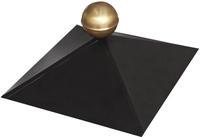 Pavillon Haube 4-Eck Pulverbveschichtet schwarz mit Messingkugel