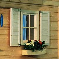 Karibu Fensterläden für 28 mm Einzel-Fenster naturbelassen