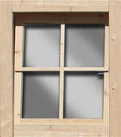 Karibu Fenster (Dreh/Kipp) 28mm naturbelassen