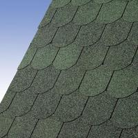 Karibu Dachschindeln Biberschwanz dunkelgrün, 3 qm