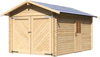 Karibu Holzgarage mit Satteldach naturbelassen 2,80x4,30x2,41m