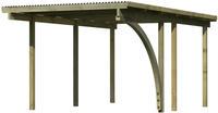 Karibu Einzel Carport Eco 1B mit PVC Dacheindeckung druckimprägniert 1x Bogen 3,04x4,90x2,29m