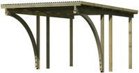Karibu Einzel Carport Eco 1C mit PVC Dacheindeckung druckimprägniert 2x Bogen 3,04x4,90x2,29m