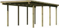 Karibu Einzel Carport Eco 2A mit PVC Dacheindeckung druckimprägniert 3,04x6,76x2,29m