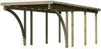 Karibu Einzel Carport Eco 2C mit PVC Dacheindeckung druckimprägniert 2x Bogen 3,04x6,76x2,29m