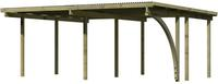 Karibu Doppel Carport Eco 1B mit PVC Dacheindeckung druckimprägniert 1x Bogen 5,63x4,90x2,29m