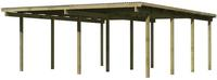 Karibu Doppel Carport Eco 2A  PVC Dacheindeckung druckimprägniert 5,27×5,76m