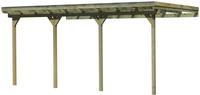 Karibu Anlehn Carport Eco 3 (mit Flachdach) Dacheindeckung kesseldruckimprägniert 3,65x6,25m