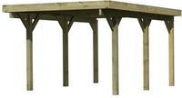 Karibu Einzelcarport Classic 1A PVC-Dacheindeckung kesseldruckimprägniert 3,18x4,82x2,34m