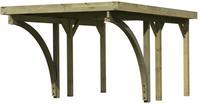 Karibu Einzelcarport Classic 1C mit PVC Trapezplatten-Dach mit 2x Bogen - 3,18x4,80x2,34m