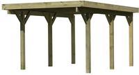 Karibu Einzelcarport Classic 1A Dacheindeckung Stahlplatten kesseldruckimprägniert - 3,18x4,82x2,34m