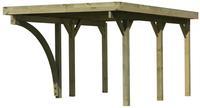 Karibu Einzelcarport Classic 1B, Dach mit Stahlplatten kesseldruckimprägniert 1x Bogen - 3,18x4,80x2,34m