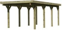 Karibu Einzelcarport Classic 2A Dacheindeckung Stahlplatten kesseldruckimprägniert - 3,18x6,68x2,34m