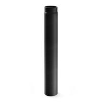 Rauchrohr 130mm x 1000mm 2mm schwarz