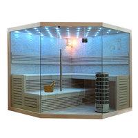 EOSPA Sauna E1101B Pappelholz 200x200 9kW Cilindro