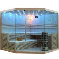 EOSPA Sauna E1101C Pappelholz 180x180 9kW Cilindro