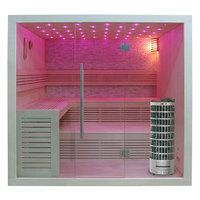 EOSPA Sauna E1102A Pappelholz 220x200 9kW Cilindro
