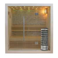 EOSPA Sauna E1103B Pappelholz 150x105 6.8kW Cilindro