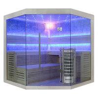 EOSPA Sauna E1211C Pappelholz 180x180 9kW Cilindro