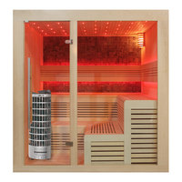 EOSPA Sauna E1213B Pappelholz 200x200 9kW Cilindro