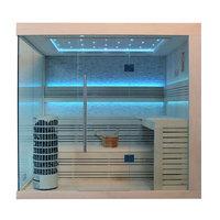 EOSPA Sauna E1246A Pappelholz 220x180 9kW Cilindro
