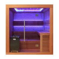 EOSPA Sauna E1241A rote Zeder 220x170 9kW EOS Cubo