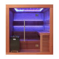 EOSPA Sauna E1241C rote Zeder 180x170 9kW EOS Cubo