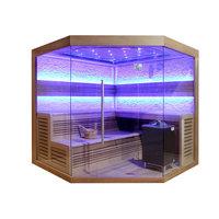 EOSPA Sauna E1242A rote Zeder 220x220 9kW EOS Cubo