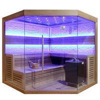EOSPA Sauna E1242C rote Zeder 180x180 9kW EOS Cubo
