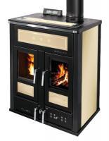Klover BI-FIRE MID Kombi Kaminofen Holz Pellet wasserführend Stahl sand 27,4 kw