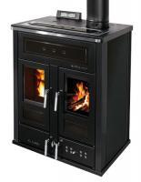 Klover BI-FIRE MID Kombi Kaminofen Holz Pellet wasserführend Stahl schwarz 27,4 kw