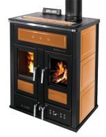 Klover BI-FIRE MID Kombi Kaminofen Holz Pellet wasserführend Keramik orange 27,4 kw
