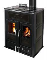 Klover BI-FIRE MID Kombi Kaminofen Holz Pellet wasserführend Keramik schwarz 27,4 kw