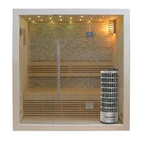 EOSPA Sauna E1103C Pappelholz 120x105 6.8kW Cilindro