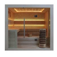 EOSPA Sauna E1247C Pappelholz 180x180 9kW Cilindro