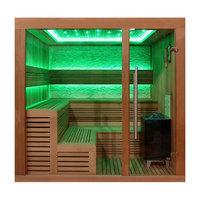 EOSPA Sauna E1243A rote Zeder 220x200 9kW EOS Cubo