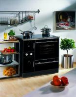 Küchenherd Wamsler wasserführend K 148 CL schwarz/chrom 23 kw