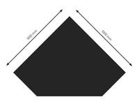 Bodenplatte Stahl B5 Diamant schwarz pulverbeschichtet 1000x1000mm