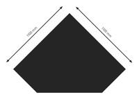 Bodenplatte Stahl B5 Diamant schwarz pulverbeschichtet 1100x1100mm