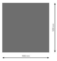 Bodenplatte Stahl B1 Rechteck gussgrau pulverbeschichtet 1200x1000mm