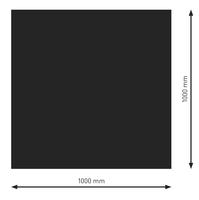 Bodenplatte Stahl B1 Rechteck schwarz pulverbeschichtet 1000 x 1000mm
