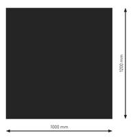 Bodenplatte Stahl B1 Rechteck schwarz pulverbeschichtet 1200 x 1000mm