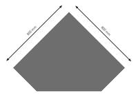 Bodenplatte Stahl B5 Diamant gussgrau pulverbeschichtet 800 x 800mm