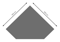 Bodenplatte Stahl B5 Diamant gussgrau pulverbeschichtet 1000x1000mm