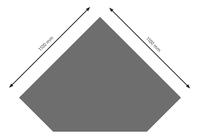 Bodenplatte Stahl B5 Diamant gussgrau pulverbeschichtet 1100 x 1100mm